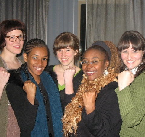 Members of the PFV team with Aaronette White and one of her students at the Association for Women in Psychology conference in Philadelphia in 2011. ©Psychology's Feminist Voices, 2011